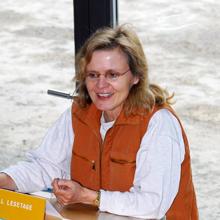 Cornelia Franz bei einer Lesung 1