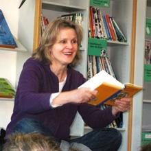 Cornelia Franz bei einer Lesung 3